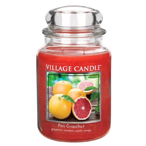 Svíčka ve skleněné dóze Village Candle Růžový grapefruit, 737 g