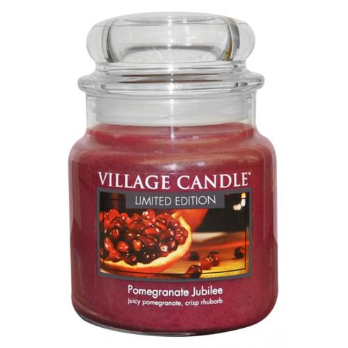 Svíčka ve skleněné dóze Village Candle Granátové jablko, 454 g