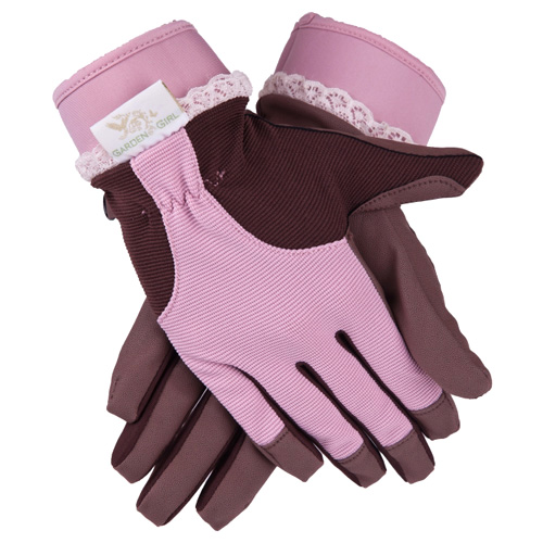GardenGirl Original Zahradní rukavice GardenGirl Velikost: XXL, růžovo-hnědé