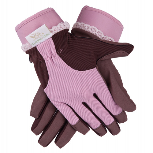 GardenGirl Original Zahradní rukavice GardenGirl Velikost: XL, růžovo-hnědé