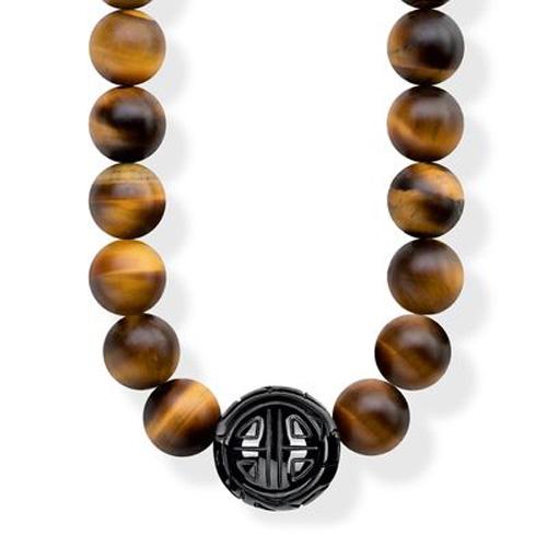 """Náhrdelník """"Etnický hnědý"""" Thomas Sabo KE1673-806-2-L100, Sterling Silver, 925 Sterling silver, bla"""