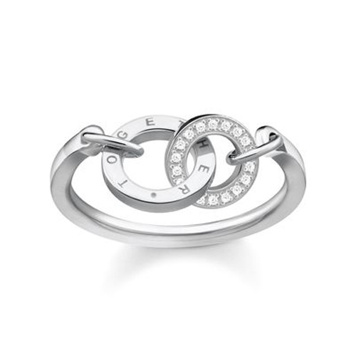 "Prsten ""Spolu"" Thomas Sabo TR2141-051-14-54, Sterling Silver, 925 Sterling silver, zirc"
