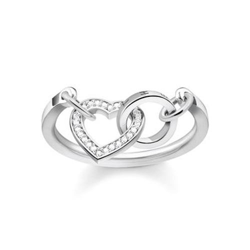 "Prsten ""Spolu srdce"" Thomas Sabo TR2142-051-14-52, Sterling Silver, 925 Sterling silver, zirc"