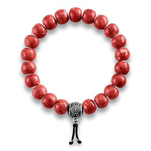 """Náramek """"Etnický červený"""" Thomas Sabo A1705-062-10-L16, Sterling Silver, 925 Sterling silver, blac"""