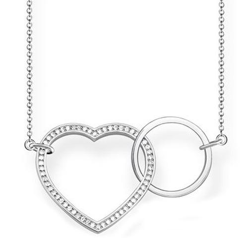 """Náhrdelník """"Spolu srdce"""" Thomas Sabo KE1645-051-14-L80v, Glam & Soul, 925 Sterling silver, zircon"""