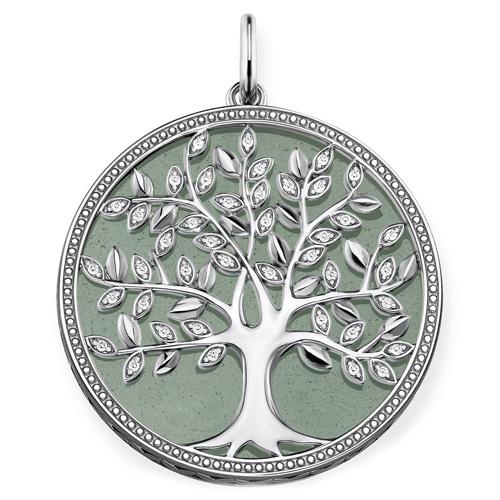 """Přívěsek """"Zelený strom lásky"""" Thomas Sabo PE760-909-6, Sterling Silver, 925 Sterling silver, blackened"""