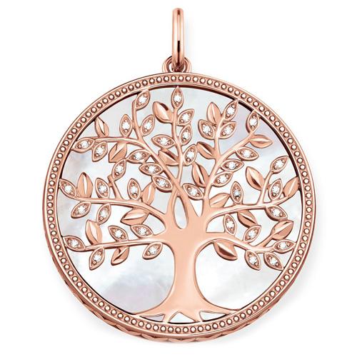 """Přívěsek """"Bílý strom lásky"""" Thomas Sabo PE761-435-14, Sterling Silver, 925 Sterling silver, 18k rose"""