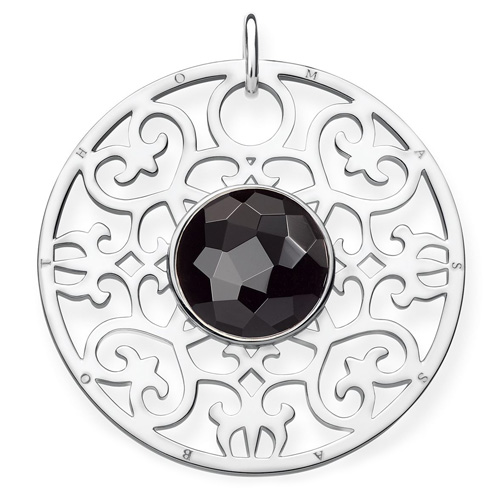 """Přívěsek """"Černý ornament"""" Thomas Sabo PE763-024-11, Sterling Silver, 925 Sterling silver, onyx"""