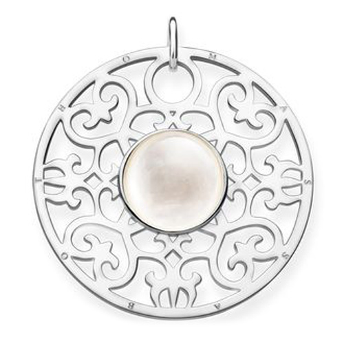"Přívěsek ""Bílý ornament"" Thomas Sabo PE763-029-14, Sterling Silver, 925 Sterling silver, mother-o"