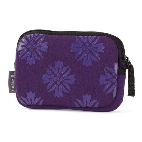 Lowepro Melbourne 10 (11.5 x 1.8 x 7.5 cm) - Purple flower