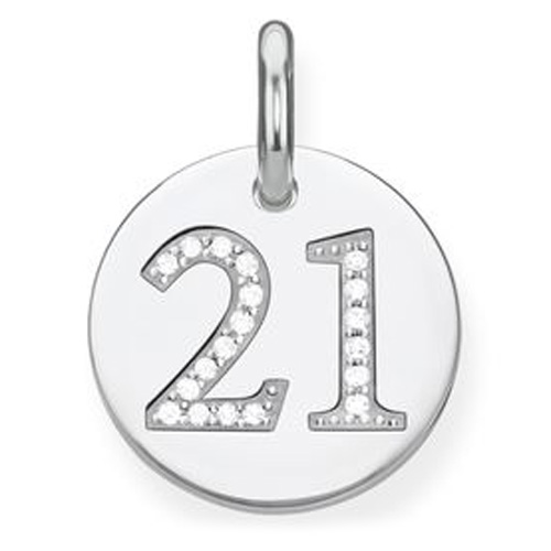 "Přívěsek ""21"" Thomas Sabo LBPE0019-051-21, Love Bridge, 925 Sterling silver, zirconia"