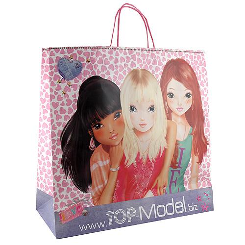 Papírová taška Top Model Nyela a Christy a Lexy, se srdíčky