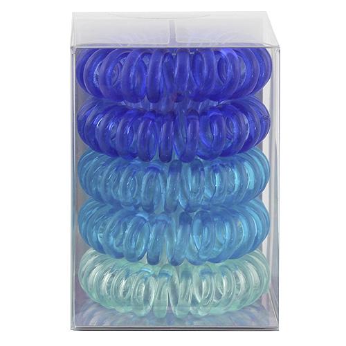 Gumičky do vlasů Top Model ASST Spirálové, 5 ks, odstíny modré