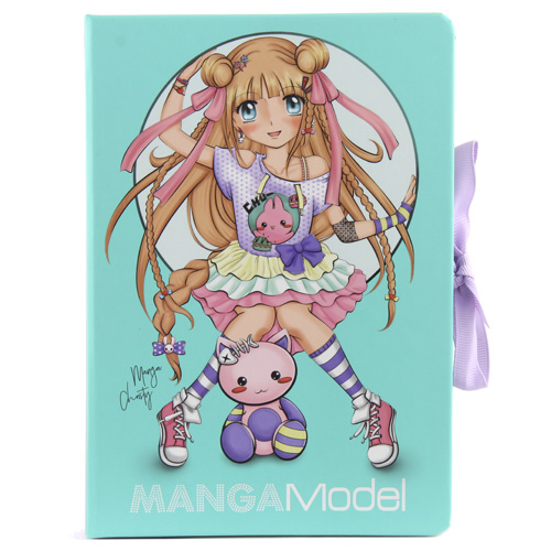 Top Model Zápisník s bločky Manga Model Manga Christy, tyrkysový