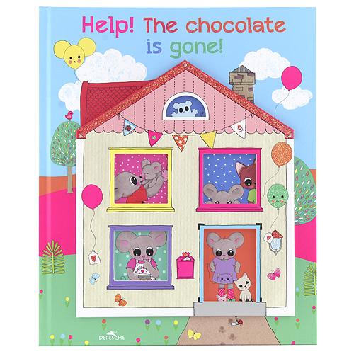 Obrázková kniha House of Mouse Ztracená čokoláda, s flitry, AJ