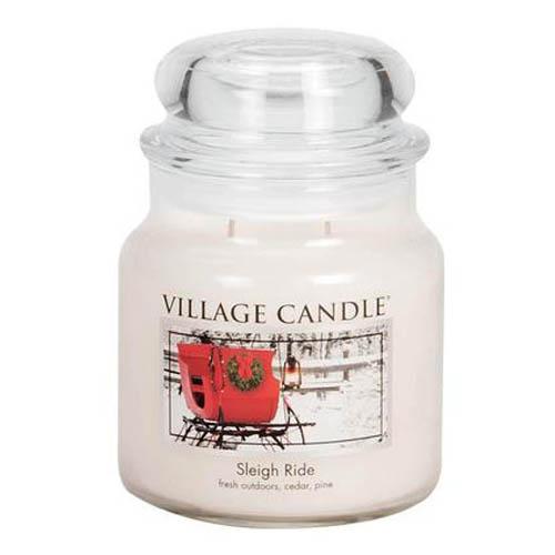 Svíčka ve skleněné dóze Village Candle Zimní vyjížďka, 454 g