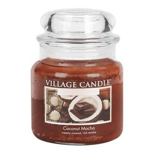 Svíčka ve skleněné dóze Village Candle Kokos s čokoládou, 454 g