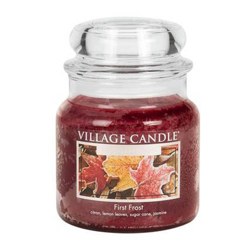 Svíčka ve skleněné dóze Village Candle První mráz, 454 g