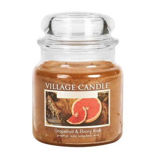 Svíčka ve skleněné dóze Village Candle Grapefruit & Ebony Bark, 454 g
