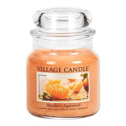Svíčka ve skleněné dóze Village Candle Mandarinka a agarové dřevo, 454 g
