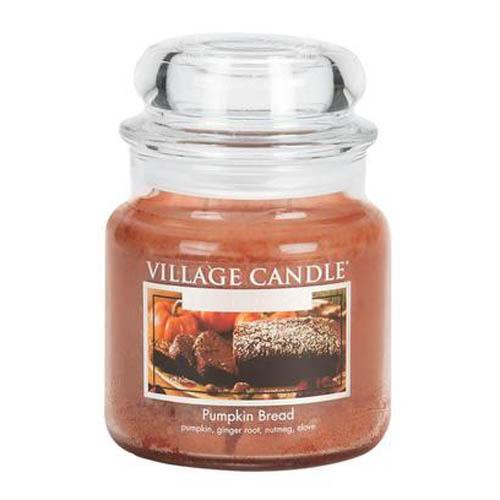 Svíčka ve skleněné dóze Village Candle Dýňový chléb, 454 g