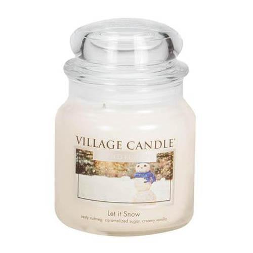 Svíčka ve skleněné dóze Village Candle Poletující sníh, 454 g