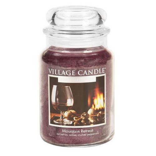 Svíčka ve skleněné dóze Village Candle Horské zátíší, 737 g