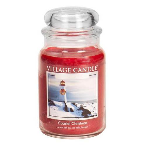 Svíčka ve skleněné dóze Village Candle Vánoce na pobřeží, 737 g