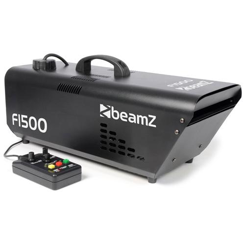 BeamZ Professional BeamZ F-1500 Fazer DMX s dálkovým ovladačem, výrobník mlhy