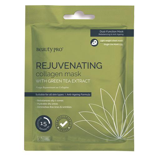 Pleťová maska BeautyPro Rejuvenating, s extraktem ze zeleného čaje, 23 g
