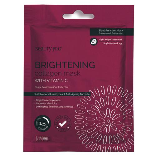 Pleťová maska BeautyPro Brightening, s vitamínem C, 23 g