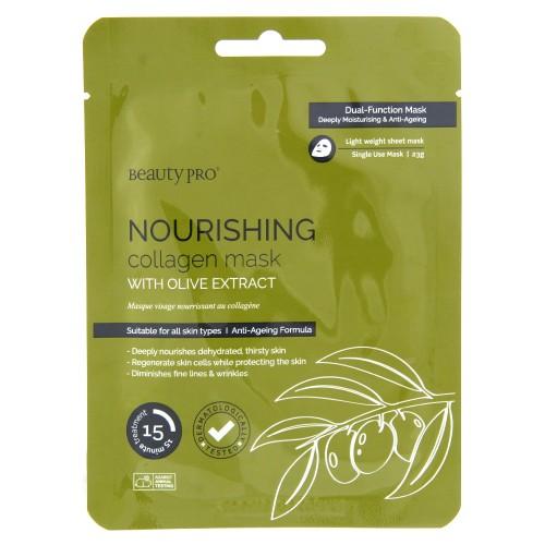 Pleťová maska BeautyPro Nourishing, s olivovým extraktem, 23 g