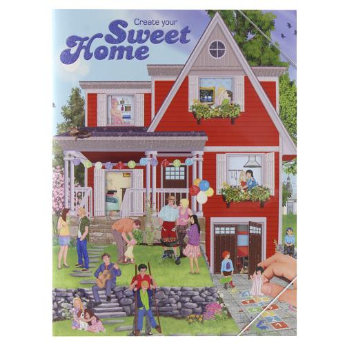 Omalovánky, kreativní sada Create Your Sweet Home, červený domek