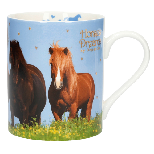 Hrneček  Horses Dreams Skupina koní, porcelánový, 200 ml