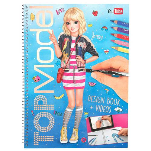 Omalovánky, kreativní sada Top Model Jenny, s možností uploadovat design