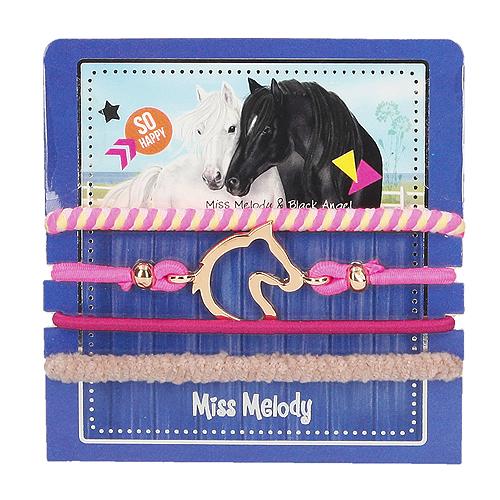Sada gumiček Miss Melody ASST Miss Melody & Black Angel, 4 ks, modrá