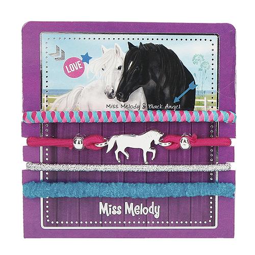 Sada gumiček Miss Melody ASST Miss Melody & Black Angel, 4 ks, fialová