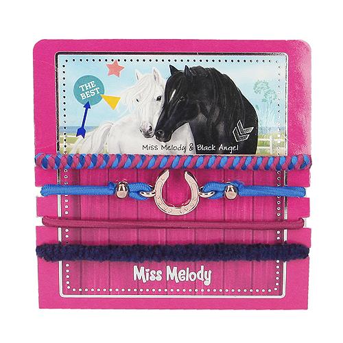 Sada gumiček Miss Melody ASST Miss Melody & Black Angel, 4 ks, růžová