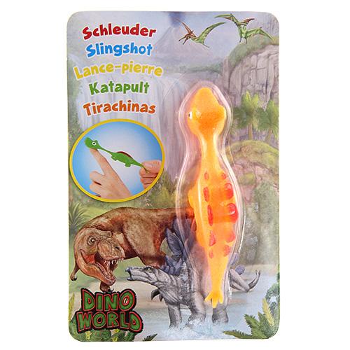 Vystřelovací dinosaurus Dino World ASST Stegosaurus, oranžový