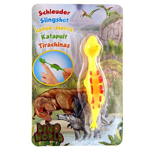 Vystřelovací dinosaurus Dino World ASST Stegosaurus, žlutý