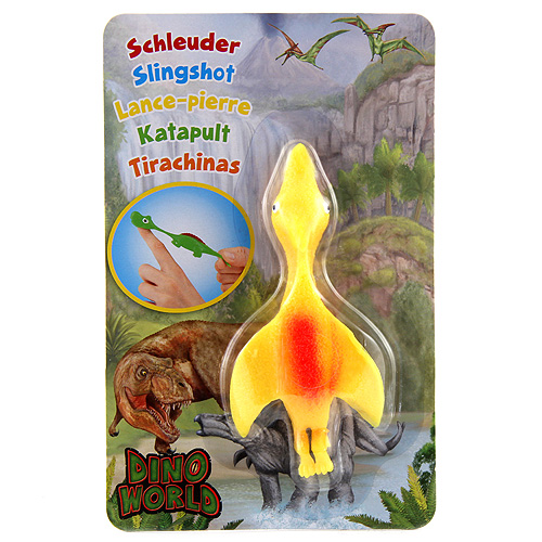Vystřelovací dinosaurus Dino World ASST Pterodaktyl, žlutý