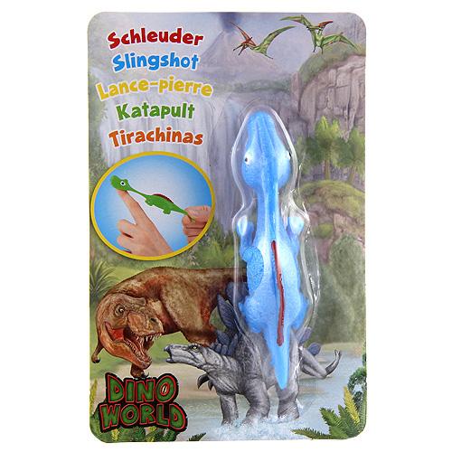 Vystřelovací dinosaurus Dino World ASST Parasaurolophus, modrý