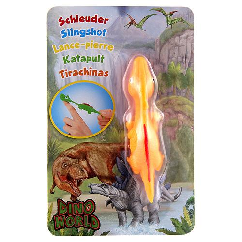 Vystřelovací dinosaurus Dino World ASST Parasaurolophus, oražový