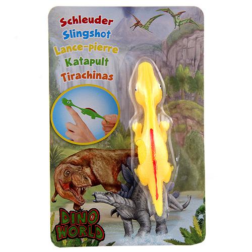 Vystřelovací dinosaurus Dino World ASST Parasaurolophus - Žlutý
