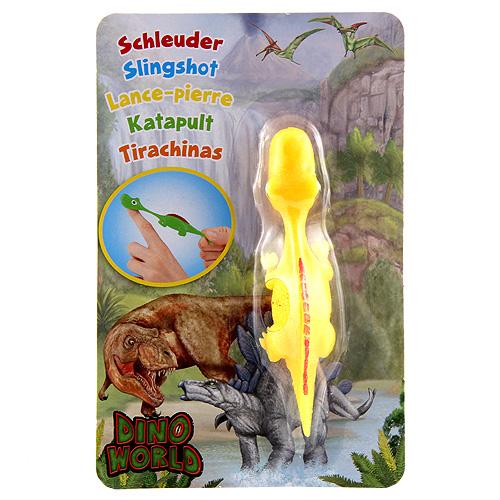 Vystřelovací dinosaurus Dino World ASST Apatosaurus, žlutý