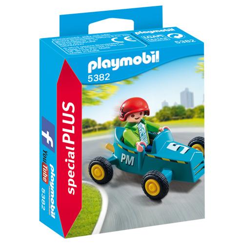 Chlapeček se šlapacím autem Playmobil Život ve městě, 8 dílků