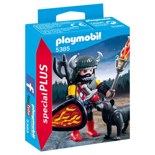 Vlčí bojovník Playmobil Rytíři a barbaři, 12 dílků