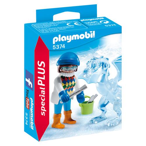 Umělkyně s ledovou sochou Playmobil Život ve městě, 15 dílků