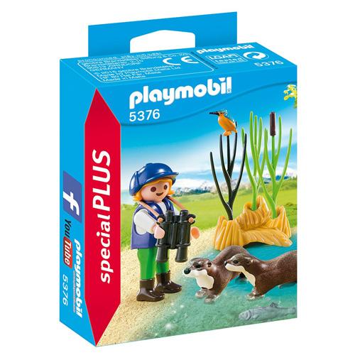 Ochránkyně s vydrami Playmobil Zoo, 12 dílků