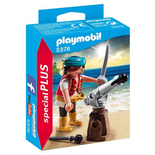 Pirát s kanónem Playmobil Piráti, 10 dílků